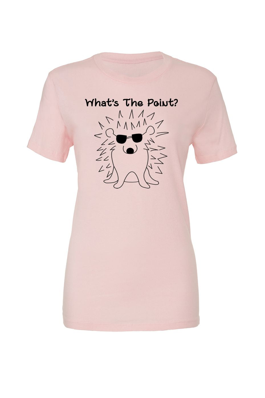 What's the Point?  Women's tee in pink
