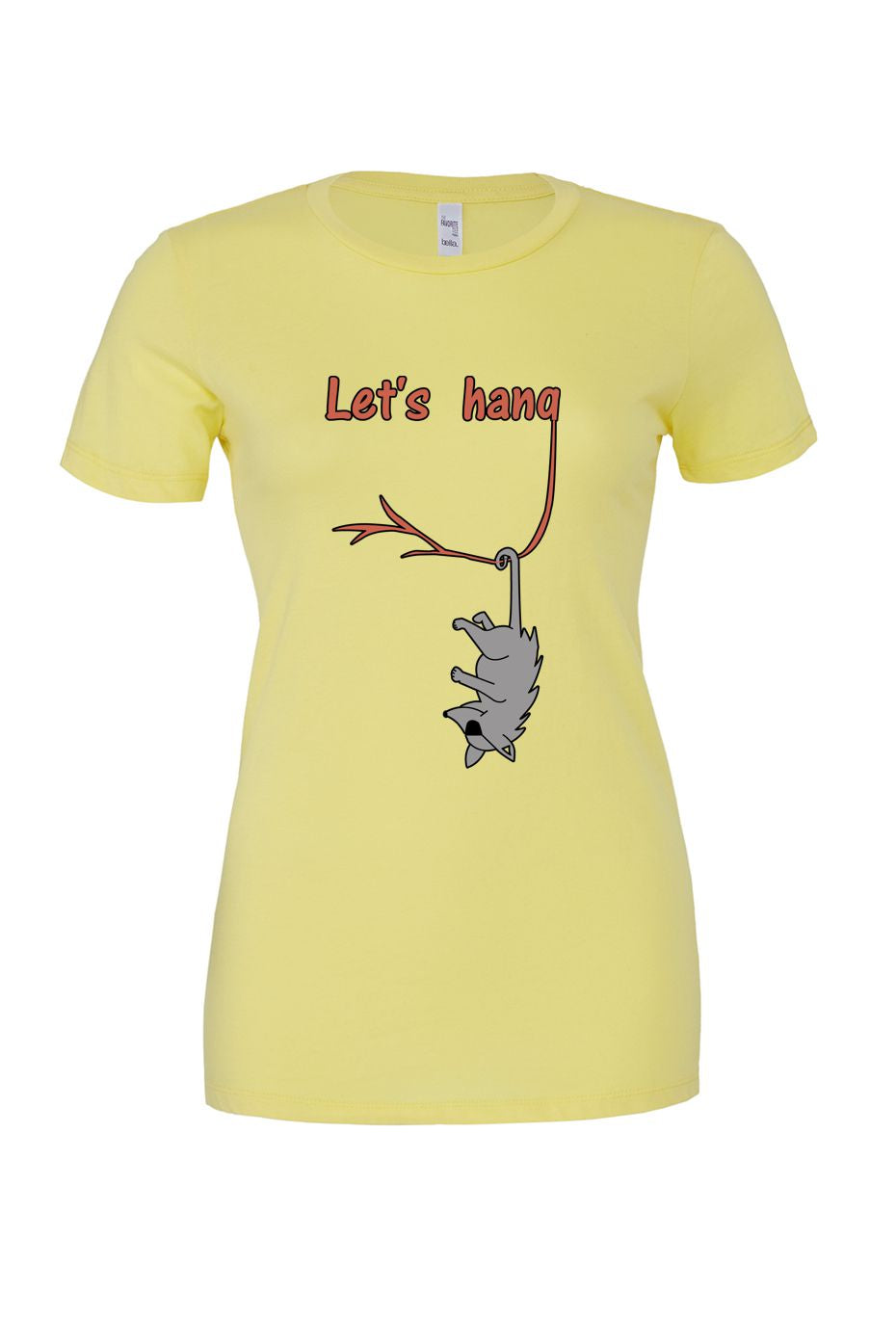 Let's Hang Women's Tee - yellow