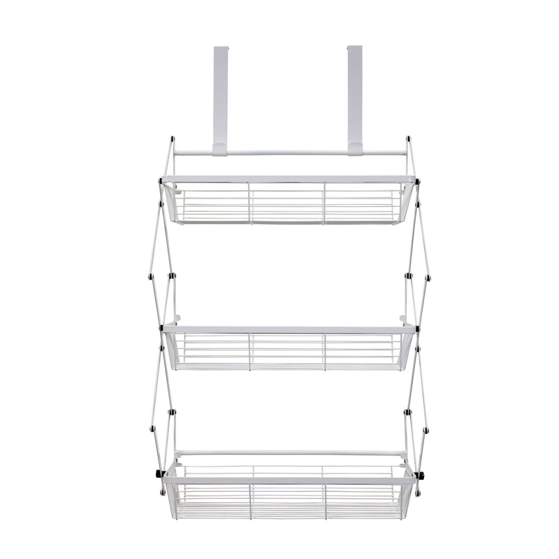 Over The Door 3 Tier White Hanging Organization Rack by Supermoon