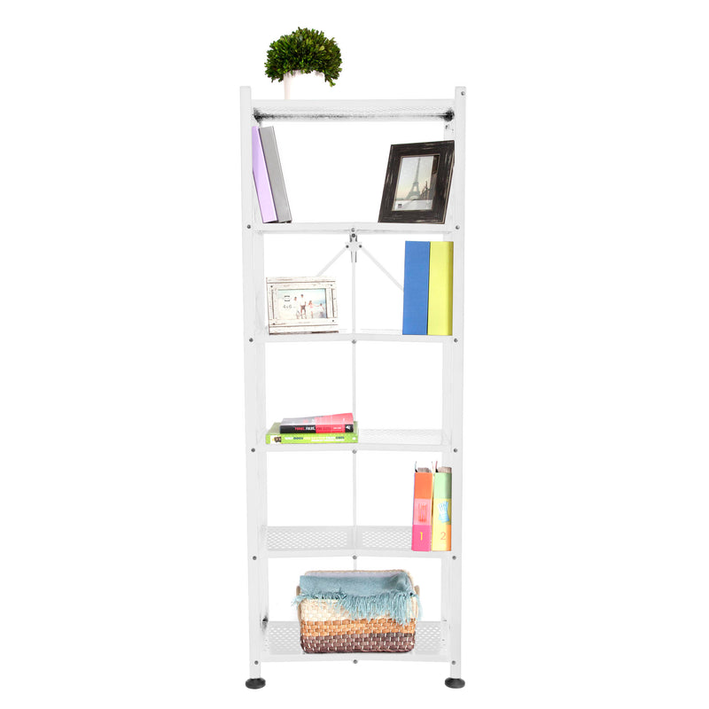 Origami RB Series: Foldout 6-Shelf Modern Perforated Bookcase