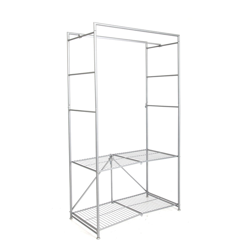 RCR Series: Folding Steel Closet with Cover - Platinum