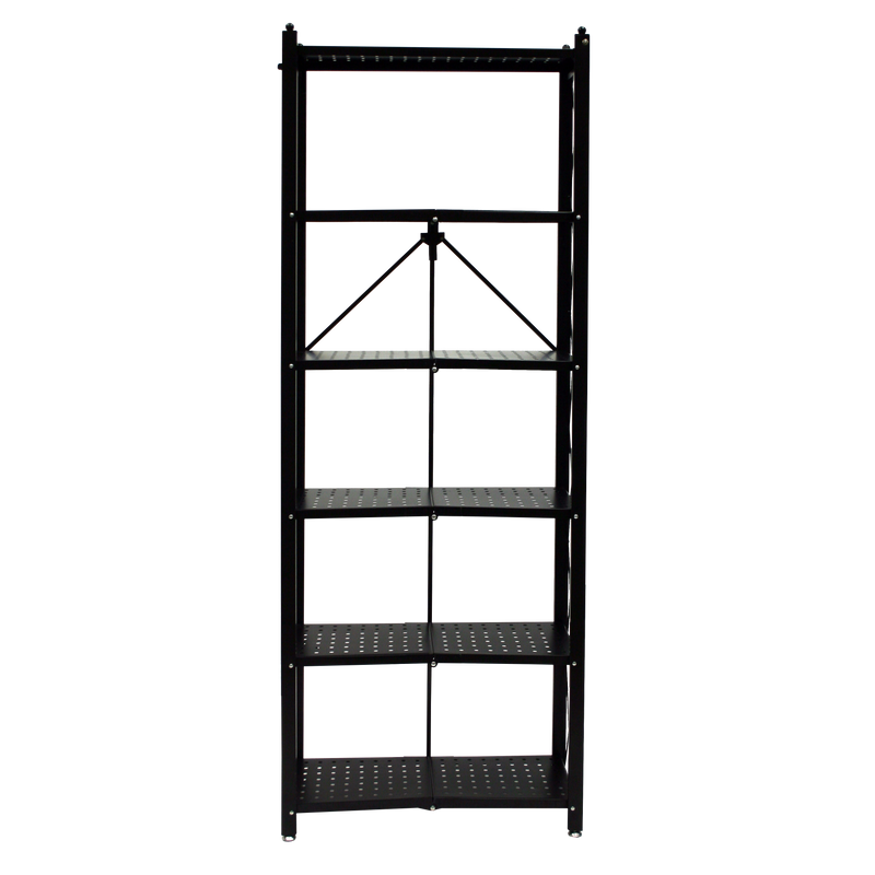 RB Series: 6-Shelf Modern Perforated Bookcase