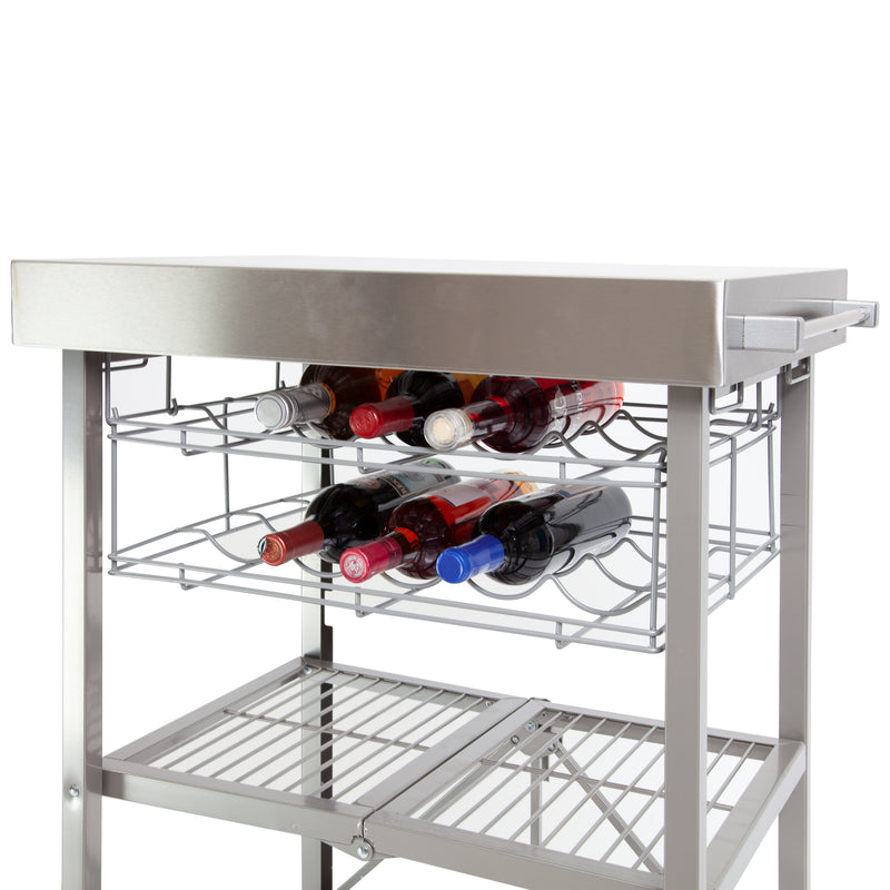 Double Wine Rack for Kitchen Cart