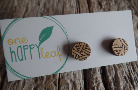 Bamboo Stud Earrings