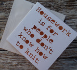 Papercut Cards for Knitters