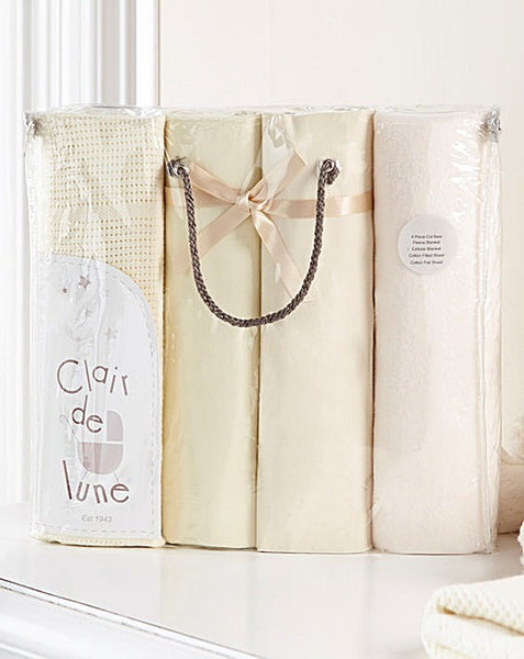 Clair de Lune 4 Piece Bedding Set for Cotbed