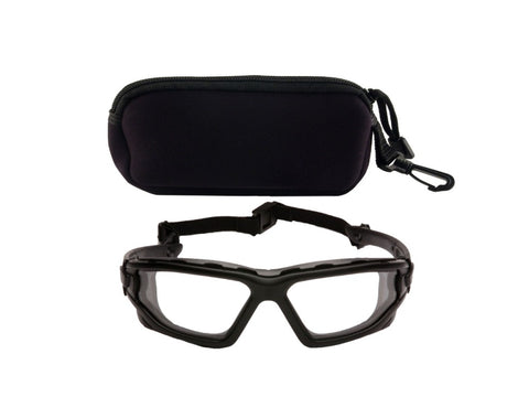 Pyramex I-Force Slim  Glasses with Case (Dual Pane, Clear)