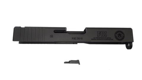 Guarder 6061 Aluminum CNC Slide G23 (Black with FBI Trades)
