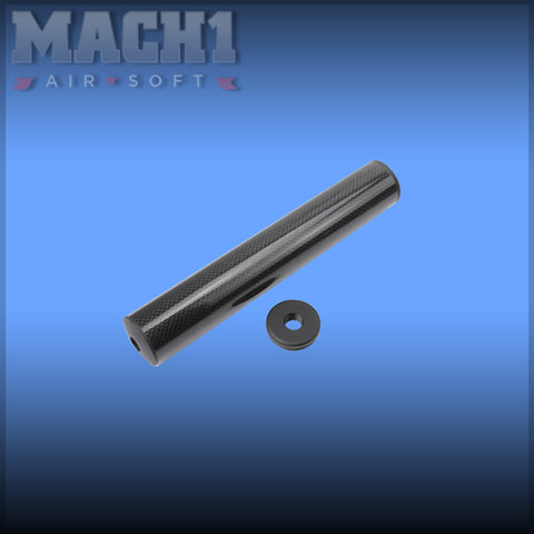 (CLEARANCE) King Arms Carbon Fiber Silencer 41x245mm
