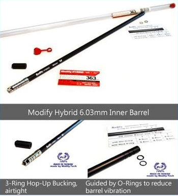 6 03mm Aircraft Aluminum Alloy Precision Inner Barrel 433 mm for Type 89,  BAR10/VSR10 (O-ring and HOP UP Bucking is not included)