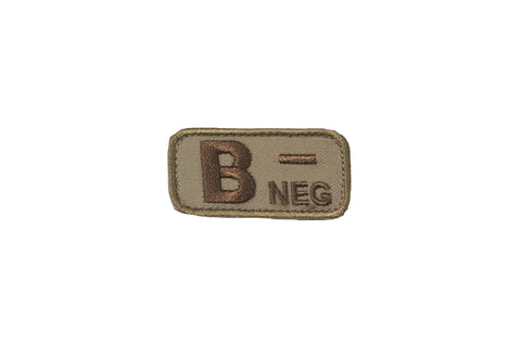 MSM Bloodtype B-NEG Patch  (Various Colours)