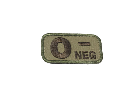 MSM Bloodtype O-NEG Patch  (Various Colours)