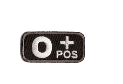 MSM Bloodtype O-POS Patch  (Various Colours)