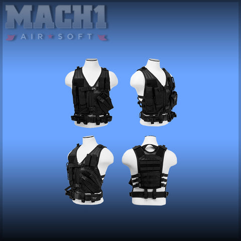 Childrens Tactical Vest - Black
