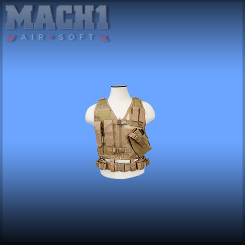 Childrens Tactical Vest - Tan