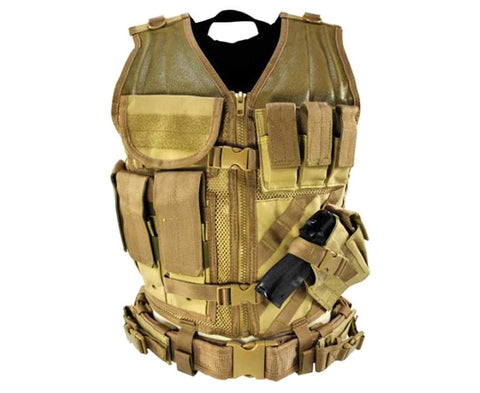 NC Star Tactical Vest Tan Large (XL-2XL)