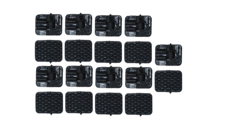 NCstar M-Lok Rail Covers Black 18 pieces