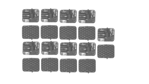 NCstar M-Lok Rail Covers Grey 18 pieces