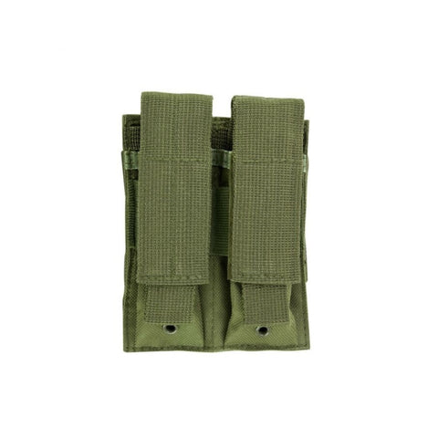 NC Star Double Pistol Mag Pouch Green