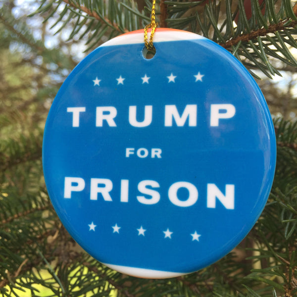 Trump For Prison Porcelain Ornaments