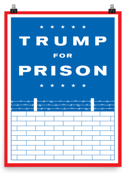 Trump For Prison Wall Poster