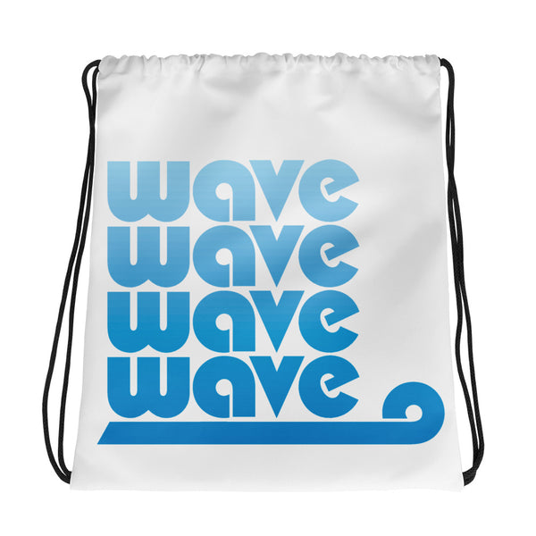 Blue Wave Drawstring bag