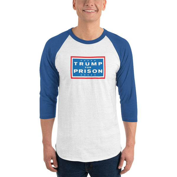 Men's Trump For Prison Baseball T-Shirt