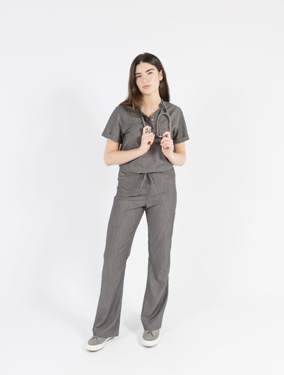 High fashion medical scrubs for women, our Maverick Pants are modern and flattering scrub pants.