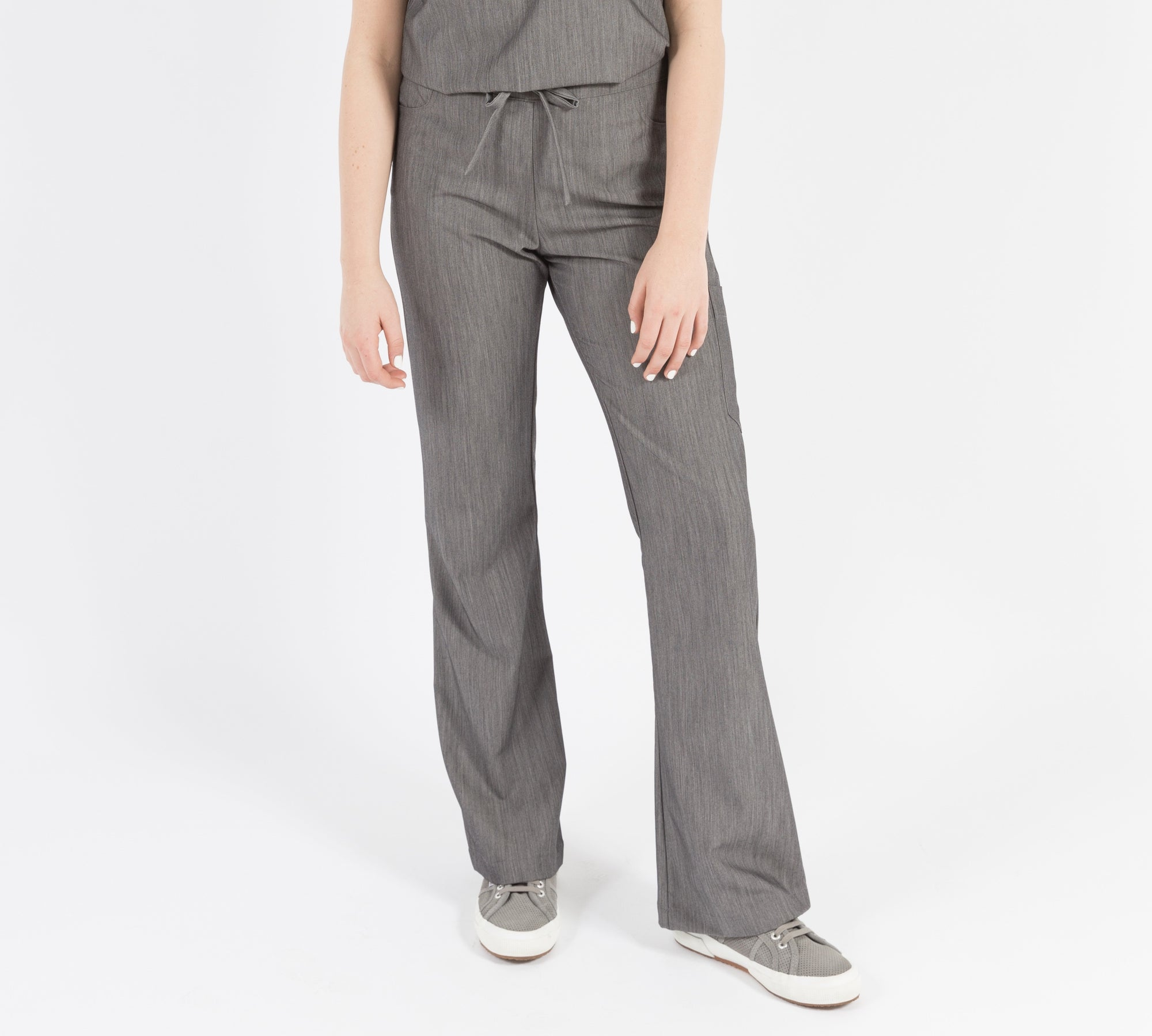 Maverick Pant - Tall (Granite Smoothie) XXS | Fabled makes beautiful high quality scrub pants for women. Scrubs fashion for women doctors and female medical workers.