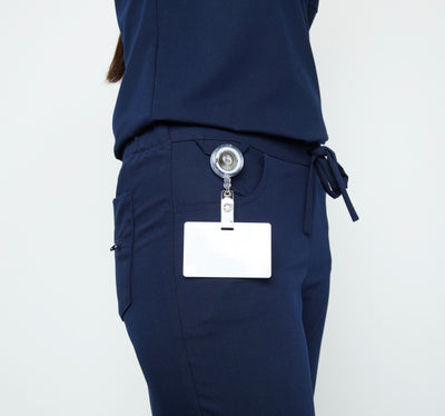 Maverick Pant - Petite (Really Dark Navy) | Fabled fashion scrub store has cute scrubs for sale, including fashion scrub pants and cute scrub pants.
