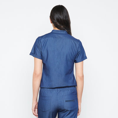 Maverick Top (Neptune Dust) | Fabled is your shop for cute scrub tops, cute womens scrubs, and fashion medical scrubs female doctor