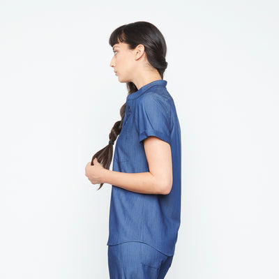 Maverick Top (Neptune Dust) | Fabled is the best of all the cute scrub brands online. Our cute fitted scrubs and fashionable scrubs uniforms are all made in America.