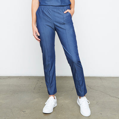 Harley Pant (Neptune Dust) XXS | Fabled makes beautiful high quality scrub pants for women. Scrubs fashion for women doctors and female medical workers.