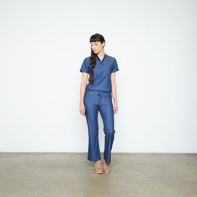 Maverick Pant - Petite (Neptune Dust) | Fabled fashion scrub store has cute scrubs for sale, including fashion scrub pants and cute scrub pants.