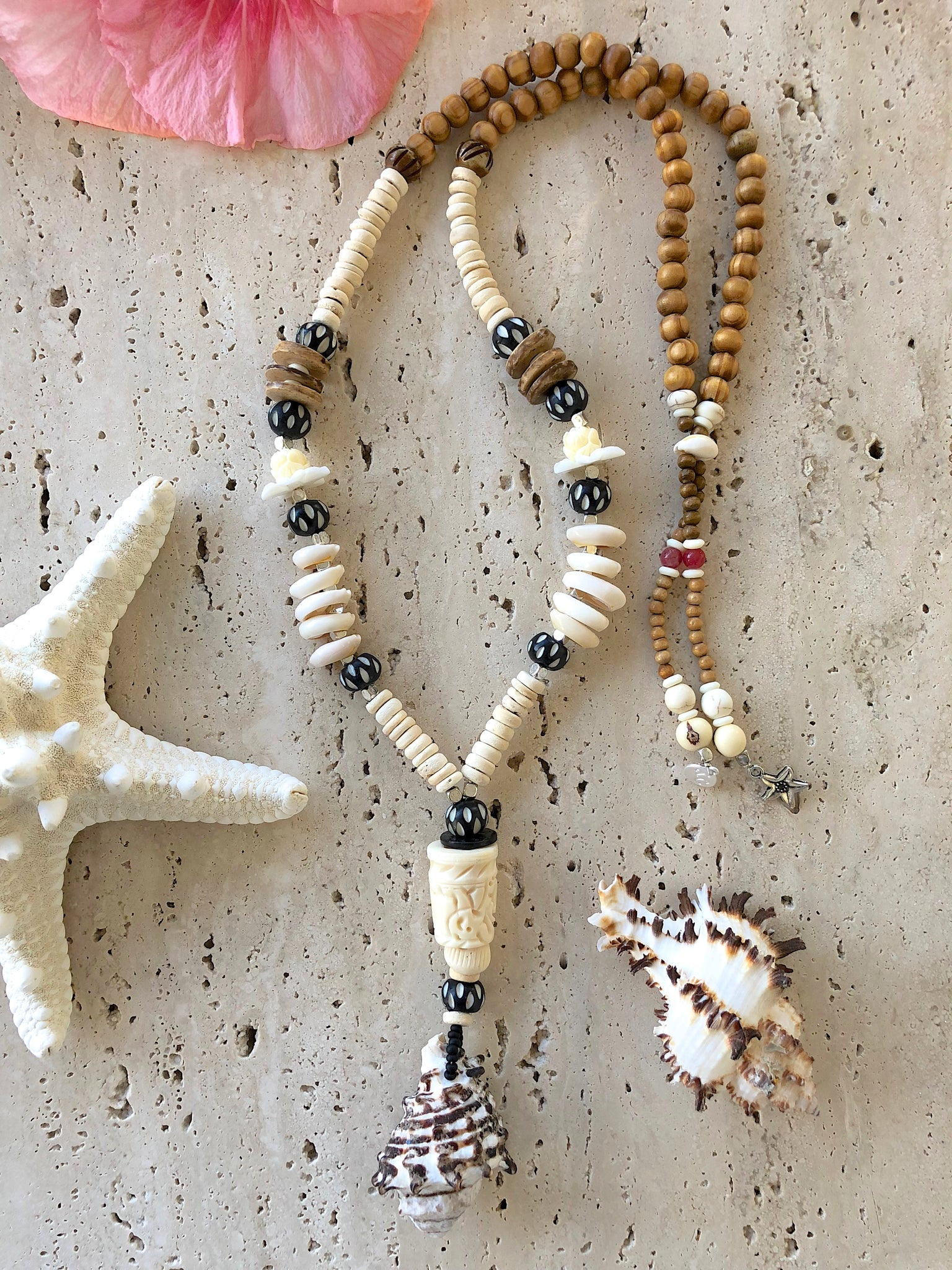 Bohemian Islander Shell Beaded Necklace