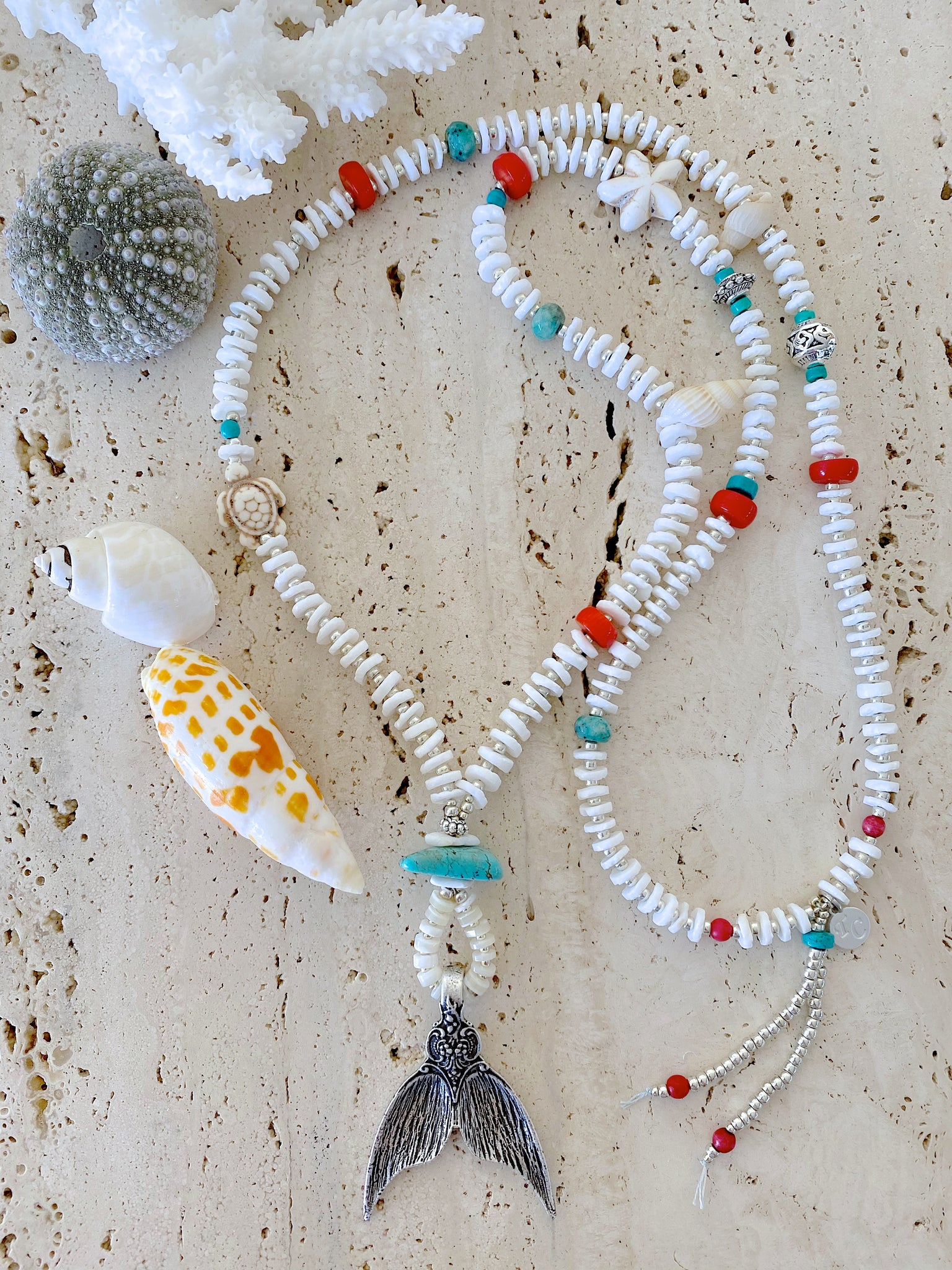 White Shell Beach Necklace Jewellery