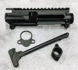 "NEW: BUNDLE AND SAVE BUILDERS PACK COMBO: AR-15 STRIPPED A3 UPPER RECEIVER W/M4 FEED RAMPS ""FORGED""--AR15 Mil Spec Charging Handle--Micro .750 Non-Adj. Gas Block--End Plate"