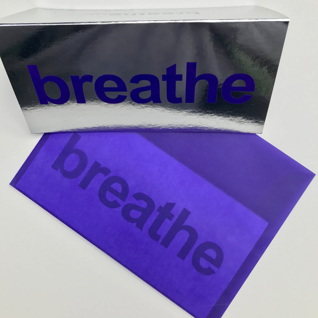 breathe cards, silver