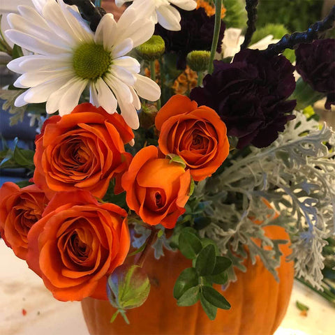 Halloween Flowers, Halloween, Halloween Decor, emiejames flower subscription, flower subscription, Halloween flower subscription