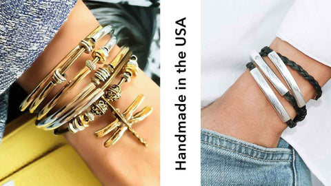 Lizzy James, Handmade in the USA, Wrap Bracelet