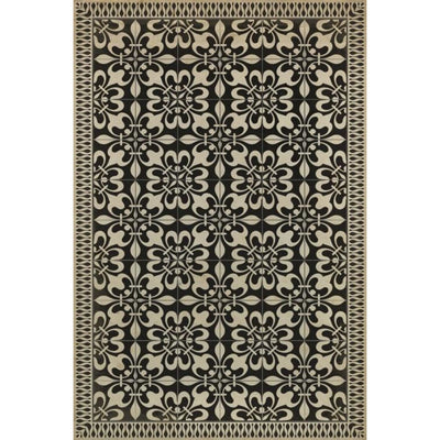 Gates of Horn and Ivory-Vinyl Rug
