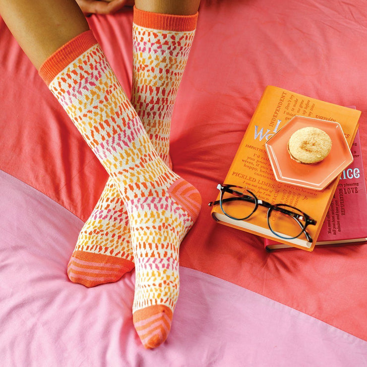 Piper Orange Socks