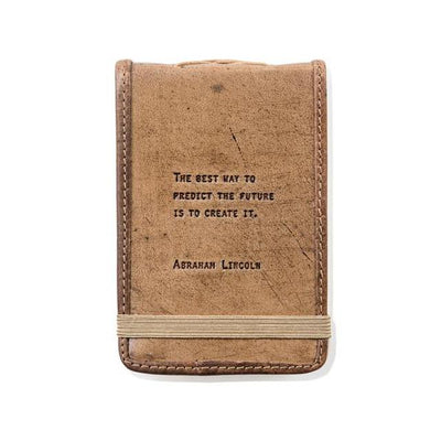 Mini Leather Journal with Quote