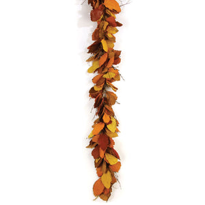 Autumn Pear Leaf Garland 68""