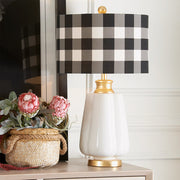 Black and White Checked Table Lamp