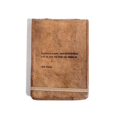 Leather Journal with Quote