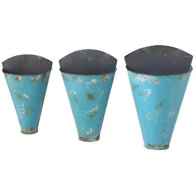 Aqua Metal Wall Buckets