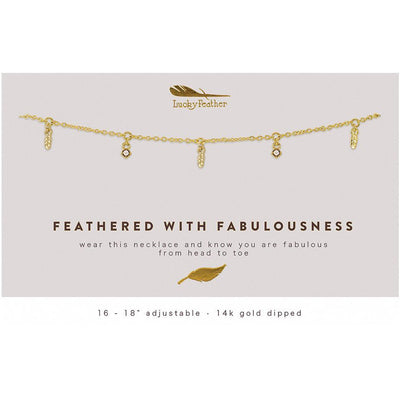 Feathers of Fab Necklace