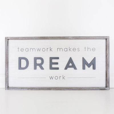 Dream Team Wood Sign