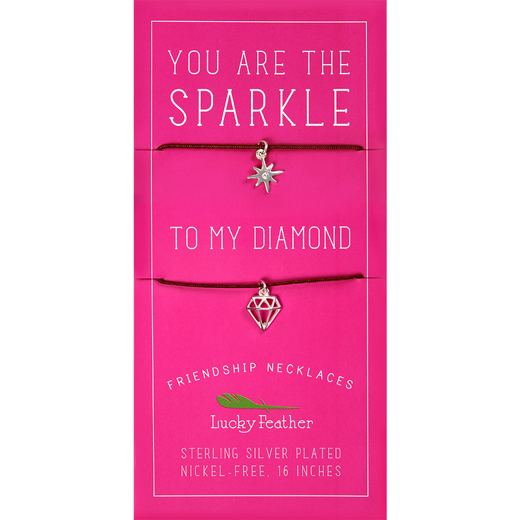 Sparkle/Diamond Friendship Necklace